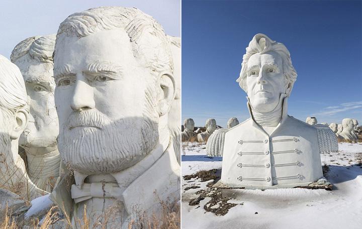 美国总统的半身雕像