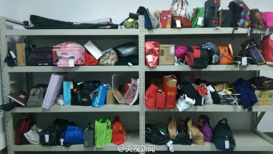 广西南宁火车东站收到遗失物品2000多件