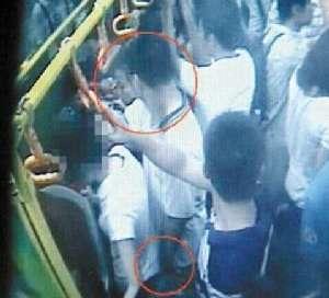 25岁男子公交车上猥亵少女 将过程、感受写成日记