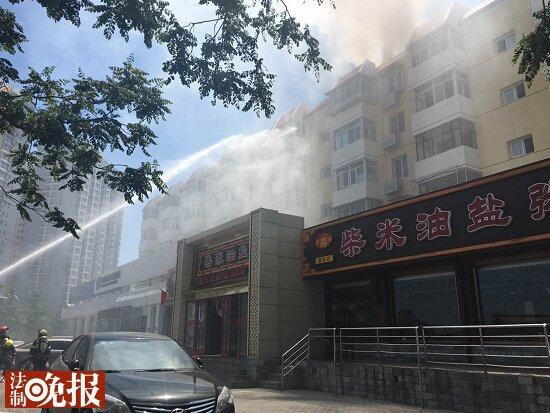 北京一饭店起火 服务员让顾客先结账(图)