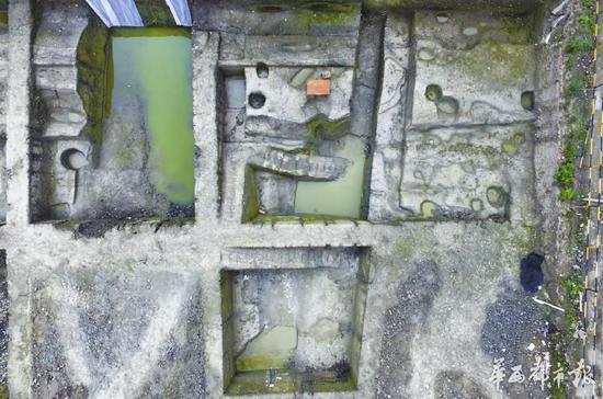 成都发现摩诃池西北角遗址 始建隋朝明代回填