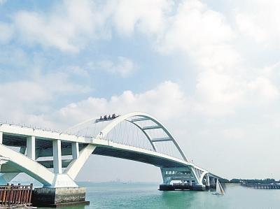 厦门一的哥纵身跳下20多米高大桥救出轻生女孩