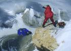俄狂人珠峰7700米跳下