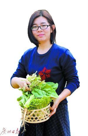 90后女大学生利用厨余垃圾 产出500斤的蔬菜