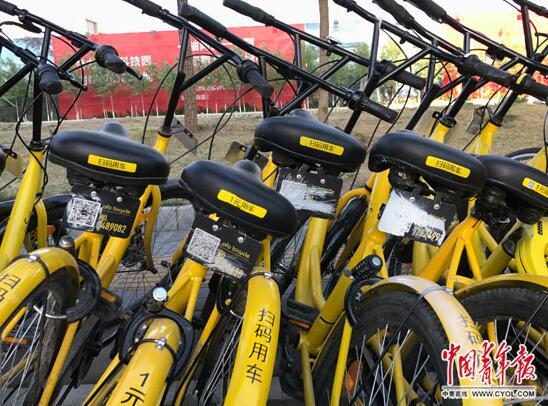 共享单车遭破坏现象严重 北京一90后女生手绘