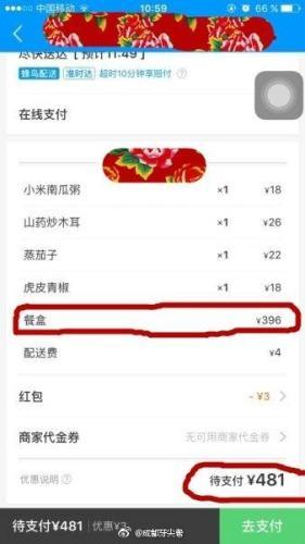 订外卖遭遇天价餐盒_4个菜餐盒费就高达396元_大香蕉新闻乐点彩票大发不时彩