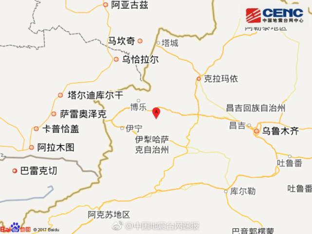 新疆精河县发生6.1级地震 乌鲁木齐等多地有强烈震感
