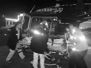 河北学生上体育课突然晕倒 直升机一小时顺利送达北京治疗
