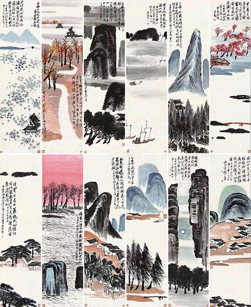 齐白石《山水十二条屏》9.3亿拍卖 创中国艺术品新纪录