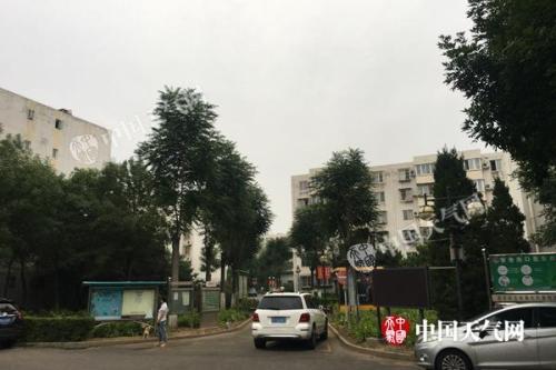 今天早晨,北京天空阴沉。