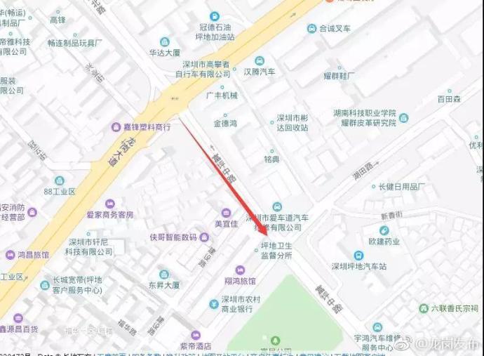 深圳市龙岗区坪地富坪中路这一段已封闭 司机请绕行
