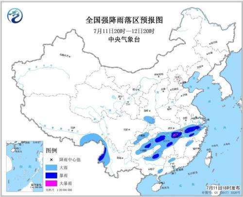 暴雨蓝色预警发布 全国13省区有大到暴雨 300542