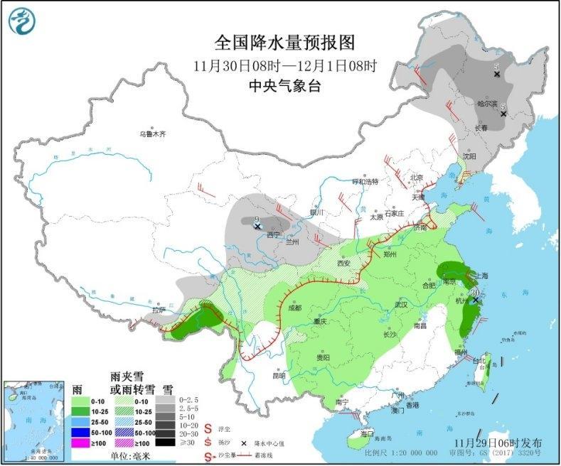 今冬以來最大范圍降雪將至 【6省區】有中到大雪