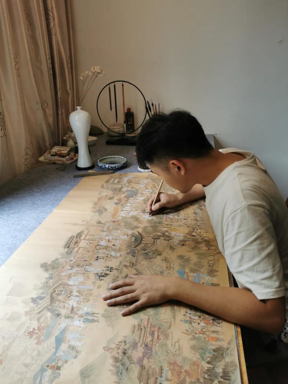 """广东小伙创作""""核酸检测上河图"""":345个人物,15个景点,细节满分!"""