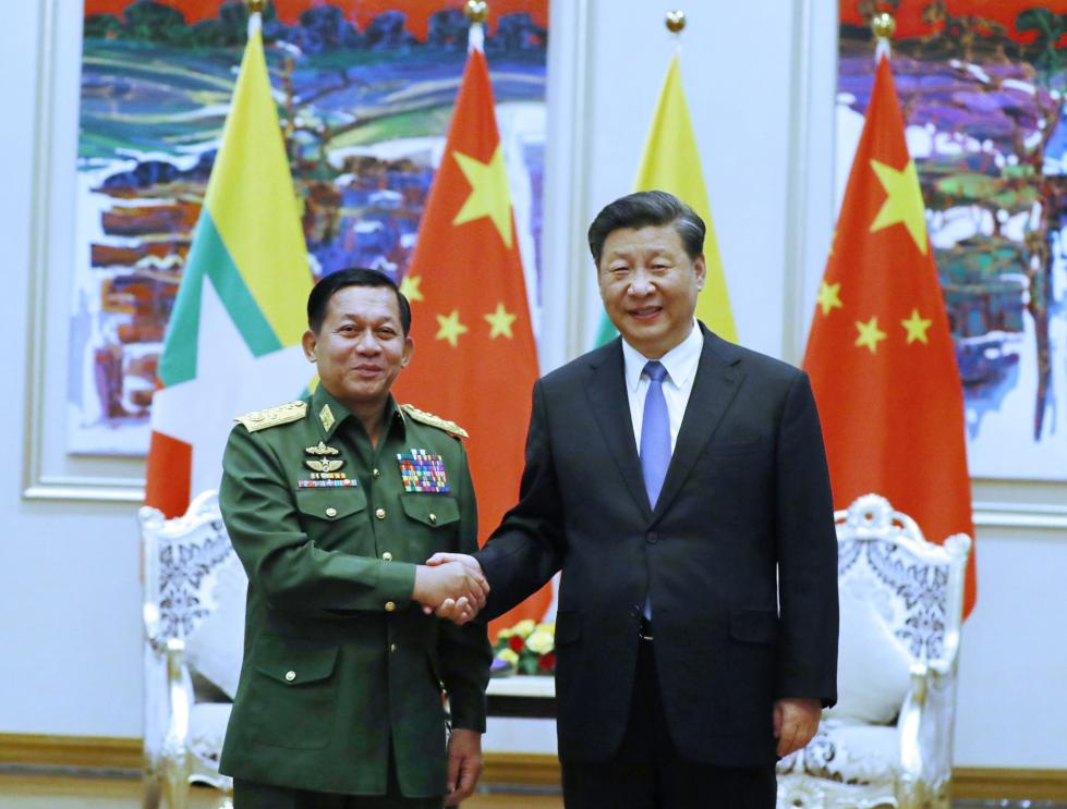 冲浪赚钱:习近平会见缅甸国防军总司令