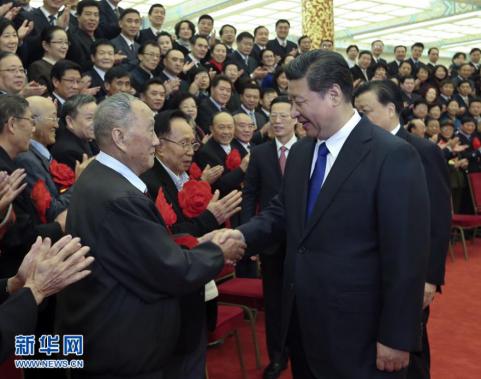 2014年11月26日,党和国家领导人习近平、刘云山、张高丽等在北京图片