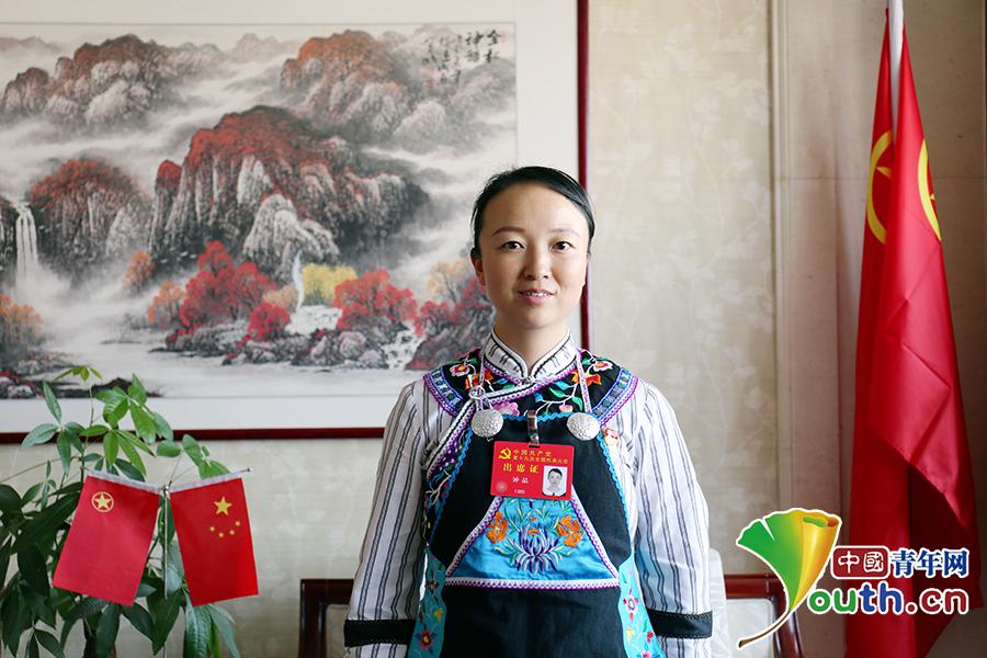 """十九大代表,""""最美乡村医生""""钟晶.中国青年网记者 张群摄"""