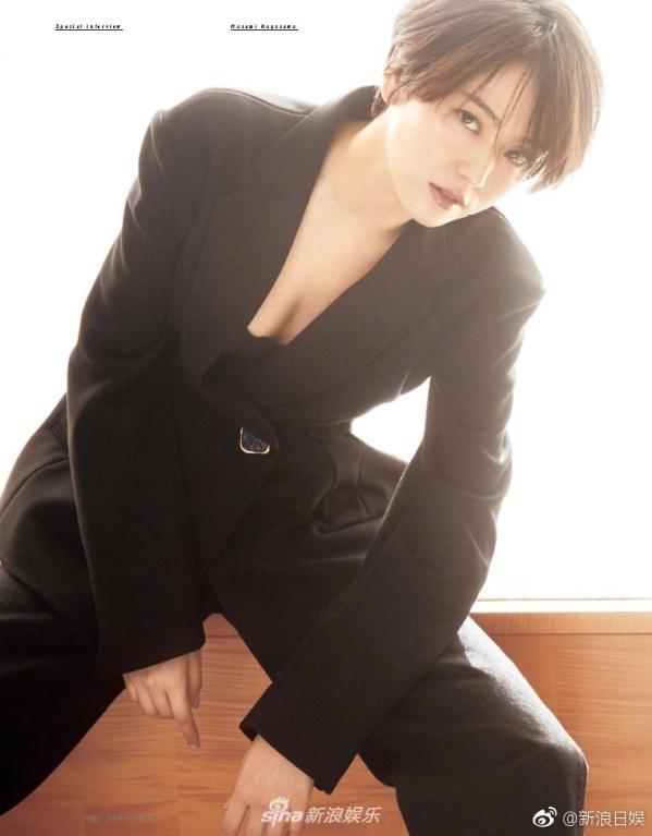 组图:长泽雅美拍摄时尚大片 短发黑衣攻气十足