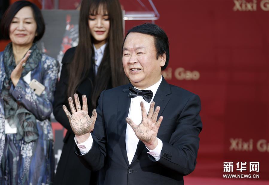 中国导演高希希留印好莱坞中国剧院