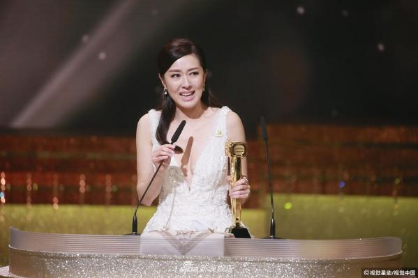 组图:TVB台庆颁奖典礼 唐诗咏斩获最佳女主角喜极而泣