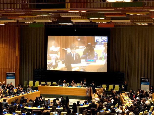 高大上!王源在联合国青年论坛发表全英文演讲