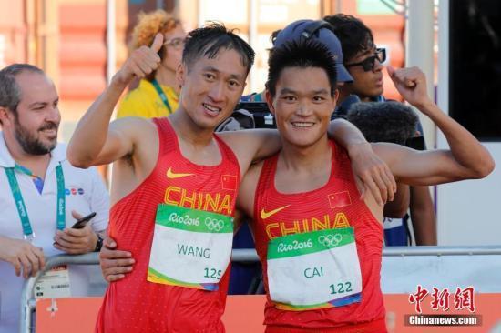 综述:中国男子竞走包揽金银 自行车获奥运首金