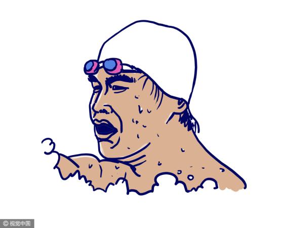 这一次的里约表情,有两个人的奥运火了,一个是傅园慧的泥石流般的怎样知道意思图的表情图片